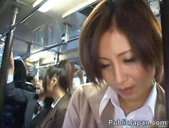 Asian babe has public sex jav clip
