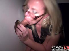 Wife Sucks Cock at Glory HOle