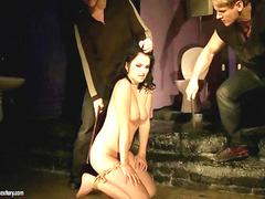 Two sex slaves getting fucked video
