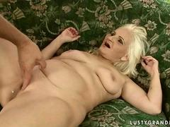 Ugly granny gets fucked pretty hard by an old man