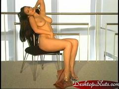 Aria Giovanni Strips our of sheer dress