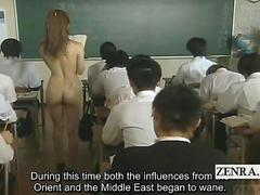 Subtitled ENF CMNF crazy Japanese cum spattered teacher