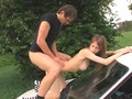 18yo polish girl fucked on the car