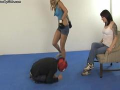 Femdom beating Mixed Fighting
