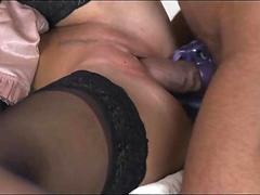 StrapOn Young blonde with big tits has both holes stretched by hot boyfriend