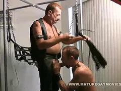 Hot Leather Dudes Fucking In A Sling bed really vigorously