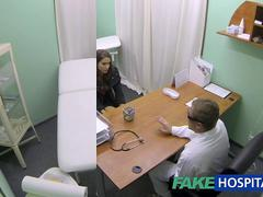 FakeHospital Hot girl with big tits gets doctors treatment before learning she can squirt