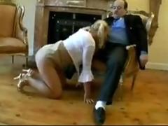 Hot blonde tart gets spanked and analyzed