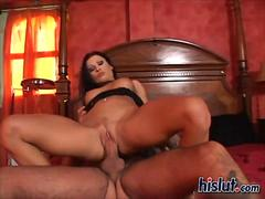 Nikki gives a footjob and the dude is in awe