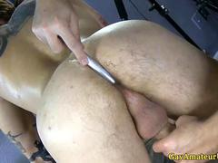 Gaystraight amateur tugged and asstoyed