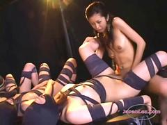 Asian Slave Girls With a Strapon By their Mistress