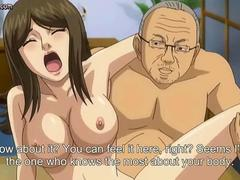 Naughty anime girl sucks and fucks her old boss