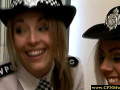 Cfnm policewomen jerk off subject