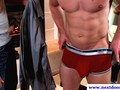Tattoo muscle getting dick sucked