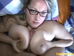 German bbw blonde gets her tattas screwed pov
