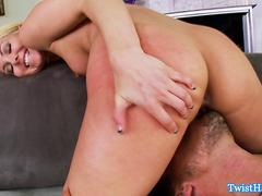Blonde Aaliyah Love doggystyle drilling
