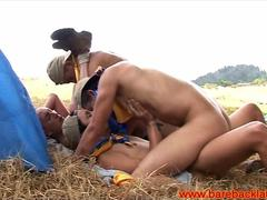 Gay latin campers cumming on each other