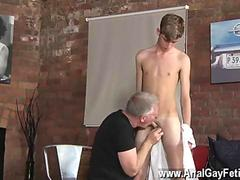 Amazing twink Jacob Daniels spanked and sucked off