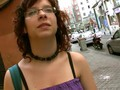 PUTA LOCURA Nerd Latina with huge natural tits picked up by Torbe