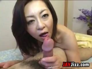 Mature japanese takes creampie