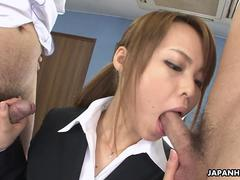 Hot Asian blowjob and enjoy hard sex