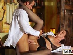 Secretary Maddy OReilly fucks her boss in their hot office