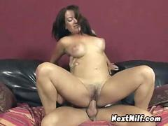 Hairy Milf Pounding younger dude