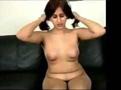 Ugly Girl Shows Off Her Hairy Pussy