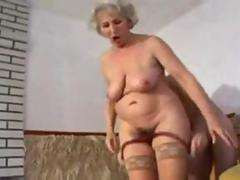 busty granny gets to fuck a hot cock