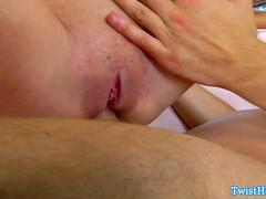 Grace and Stella in threeway fucked