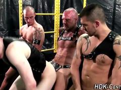 Leather raw fuck and cum