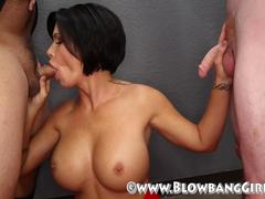 Big Tit MILF Shay Fox Sucks Blowbang Off 6 Different Guys