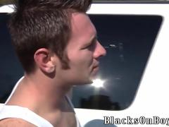 Cameron Gets Fucked By Two White Boys