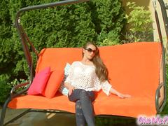 give me pink flesh-colored dildo teases and stimulates hungry zara video