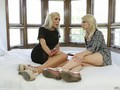 Two gorgeous blonde fall in love with each other