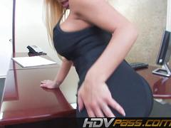 Sexy Office Chick Teasing And Fingering Herself