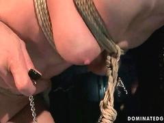 Beautiful slavegirl gets painfully punished and fucked