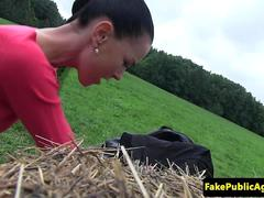 Amateur euro doggystyled outdoors until cum