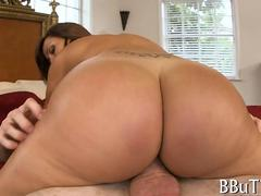 Huge ass riding cock