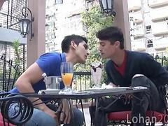 cafe date leads to kitchen gay smut clip
