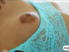 Adorable Sara Luvv getting her wet pussy in check