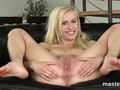 Spicy czech nympho gapes her tight hole to the extreme