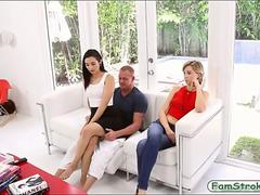 Slutty Malina Mars banged by older man in her living room