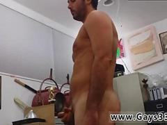 Hidden cam from pawn shop shows straight guy masturbating naked
