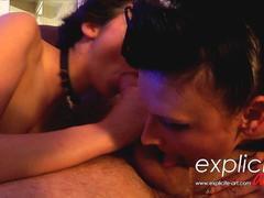 Crazy threesome anal and fisting with two French debutantes