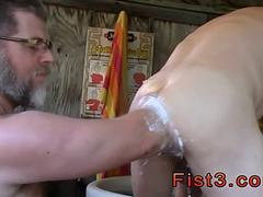 Elbow deep fisting is how this kinky guy likes to have sex