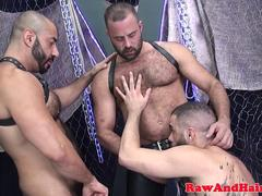 Strong bears dicksucking and dildo analplay