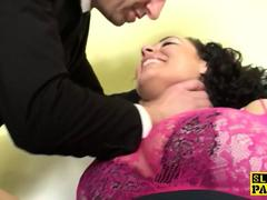 Busty british sub Anastasia Lux doggystyled