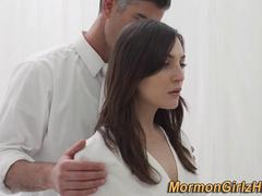 Teen mormon cum blessed