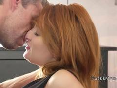 Redhead Russian Milf banged in bedroom